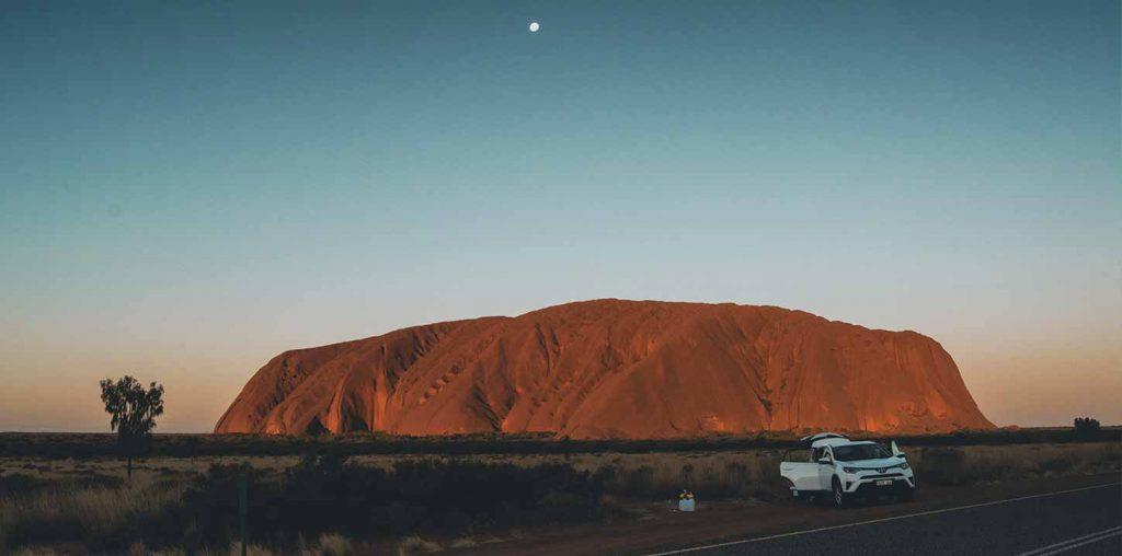 La notte prima sotto Uluru