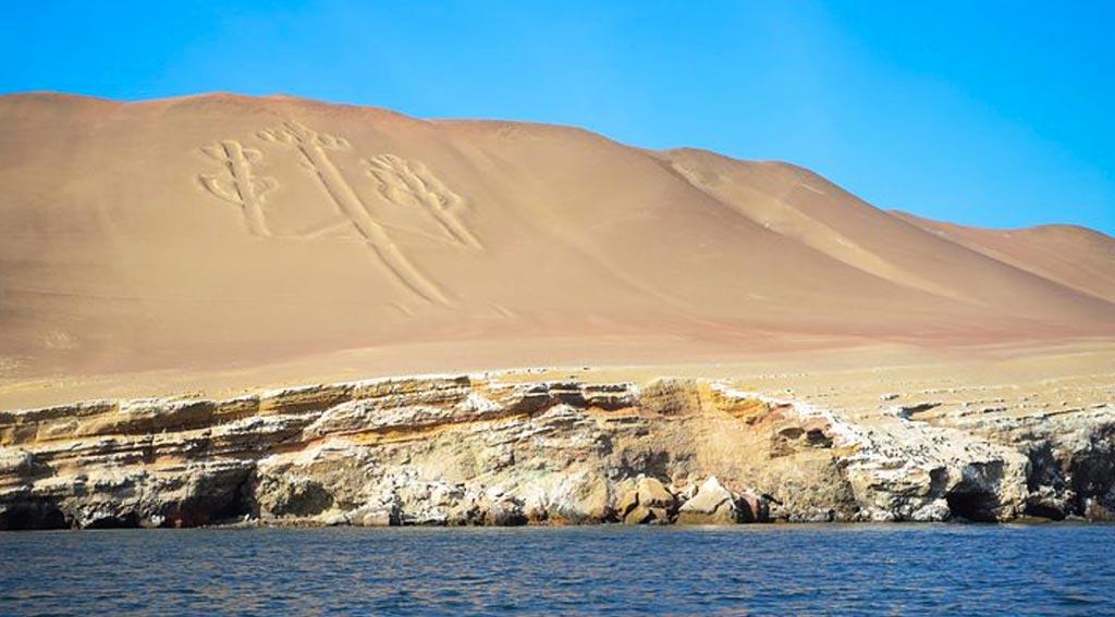 le isole Ballestas, dove c'è la figura di un grande candelabro