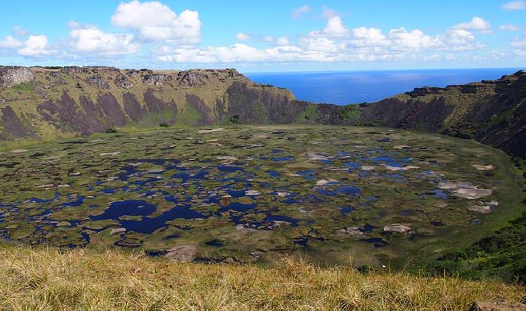 favoloso e primitivo scenario del vulcano Ranu Kau