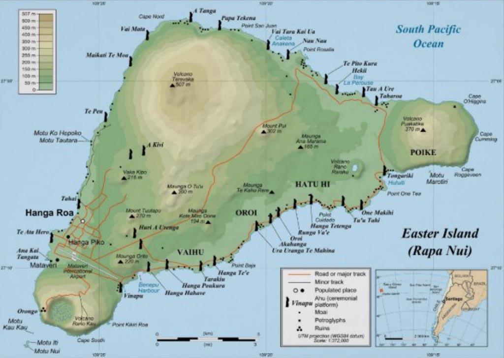 Mappa isola di Pasqua