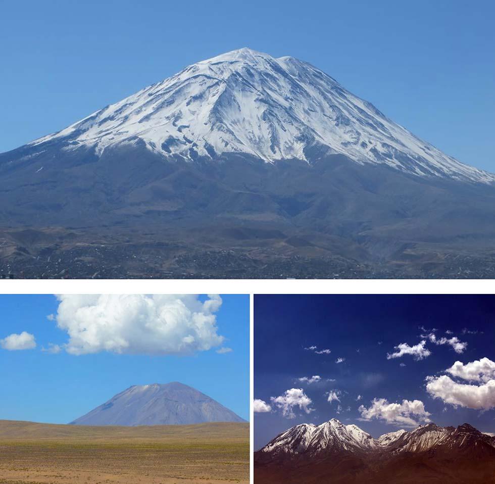 Arequipa annunciata da grandi vulcani