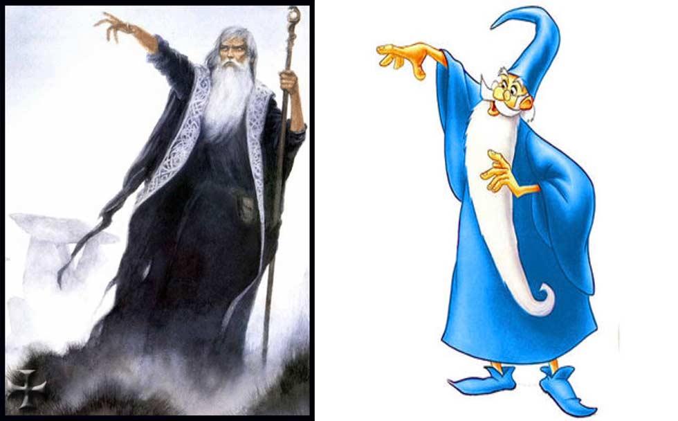 Merlino famoso veggente, figlio di uno spirito e di una vergine