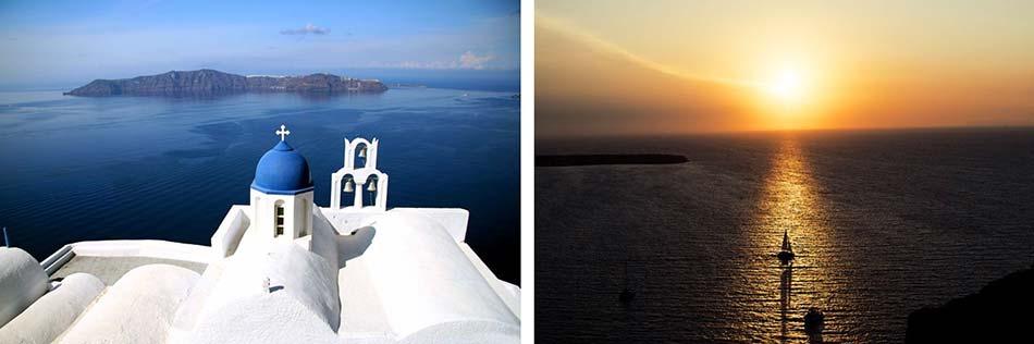 Thira e di Oia, i due paesi panoramici dell'isola