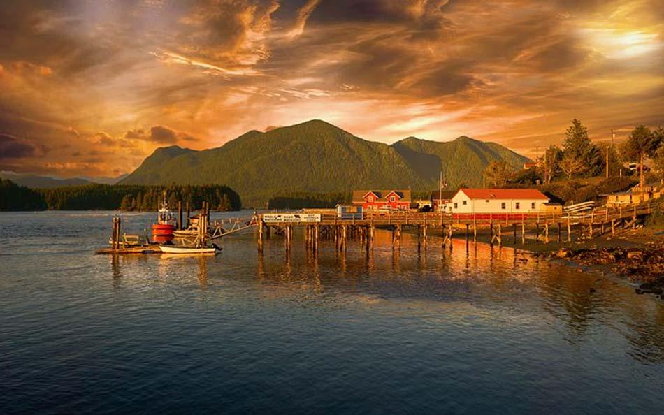 villaggio di Tofino, a nord di Vancouver Island
