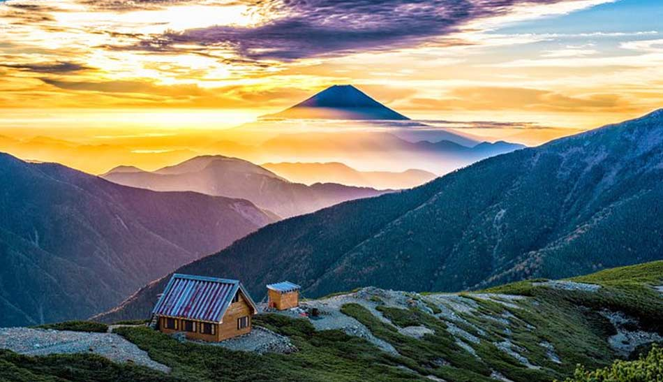 le prime ascensioni sul Fuji