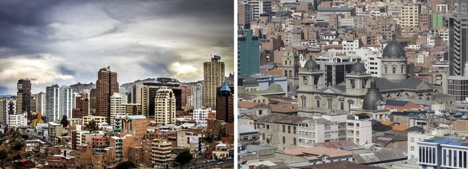 Scendendo a valle la città migliora, ci sono i suoi grattacieli all'americana, il centro storico e coloniale, i palazzi del potere