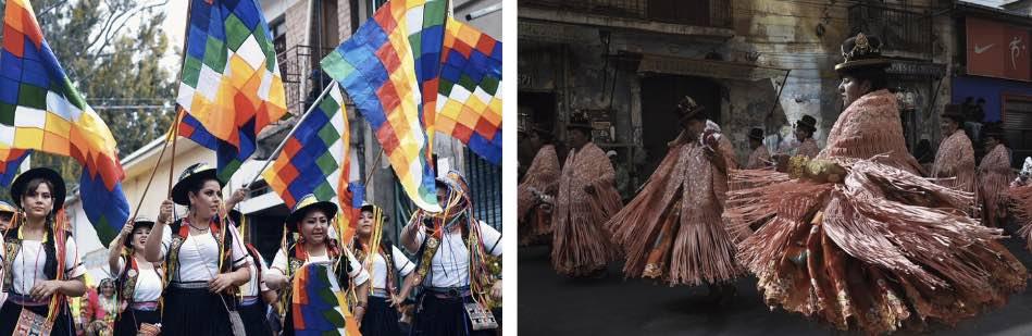 L'arte conta poco, conta però, e molto, manifestare l'essere boliviano nel folklore
