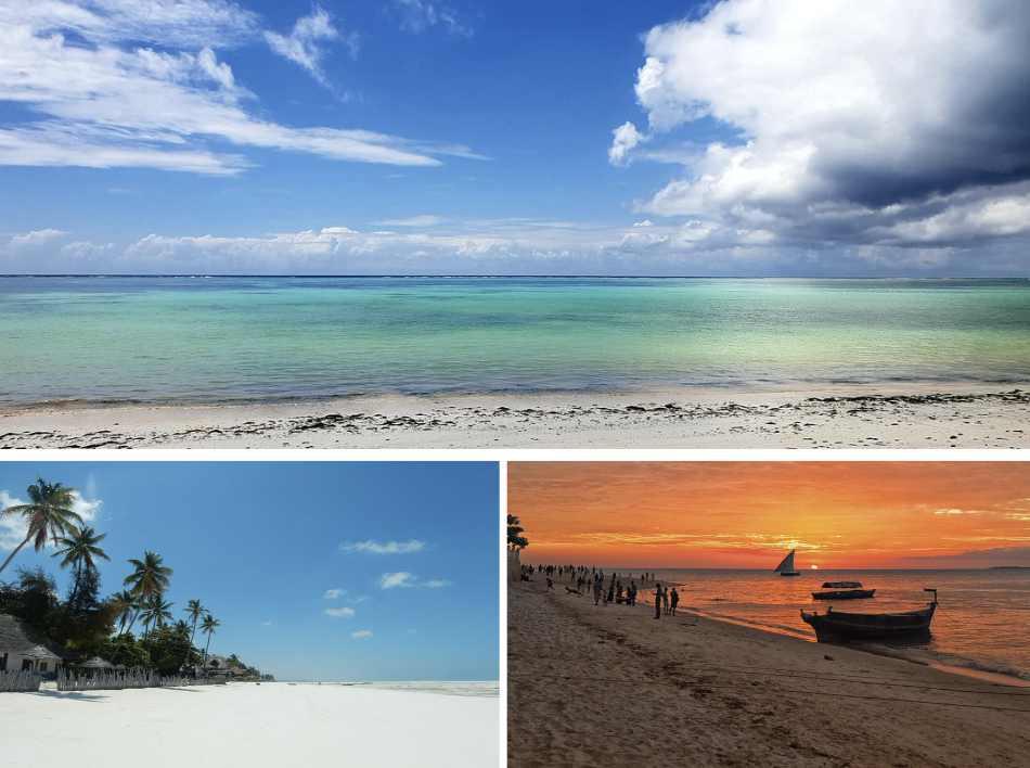 con la spiaggia da sogno, la piscina tra le palme, le camere in stile etnico