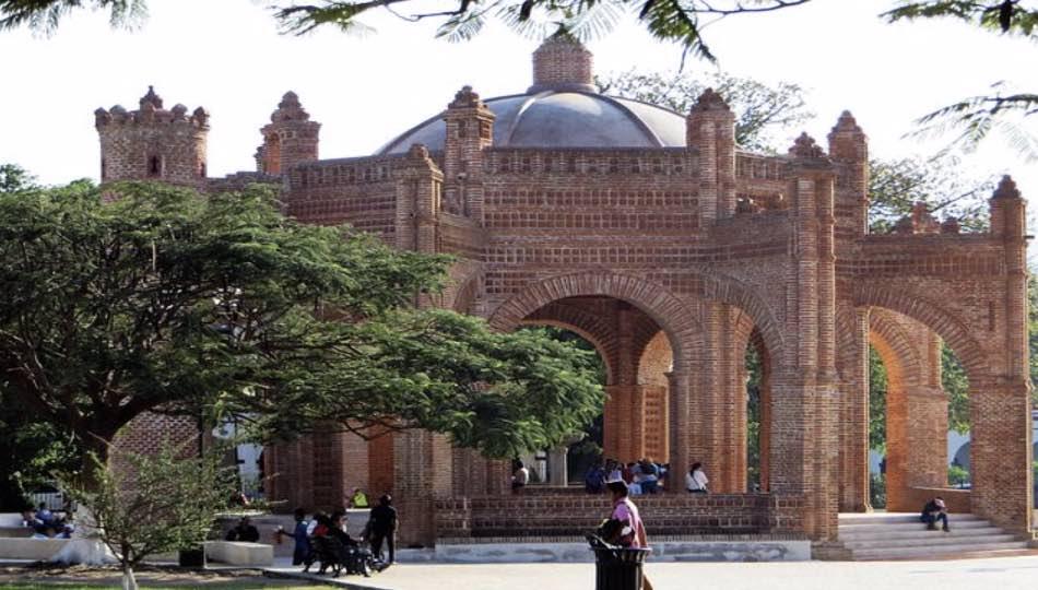 la Fonte della Pila in stile arabo-mudejar nella piazza di Chiapa de Corzo