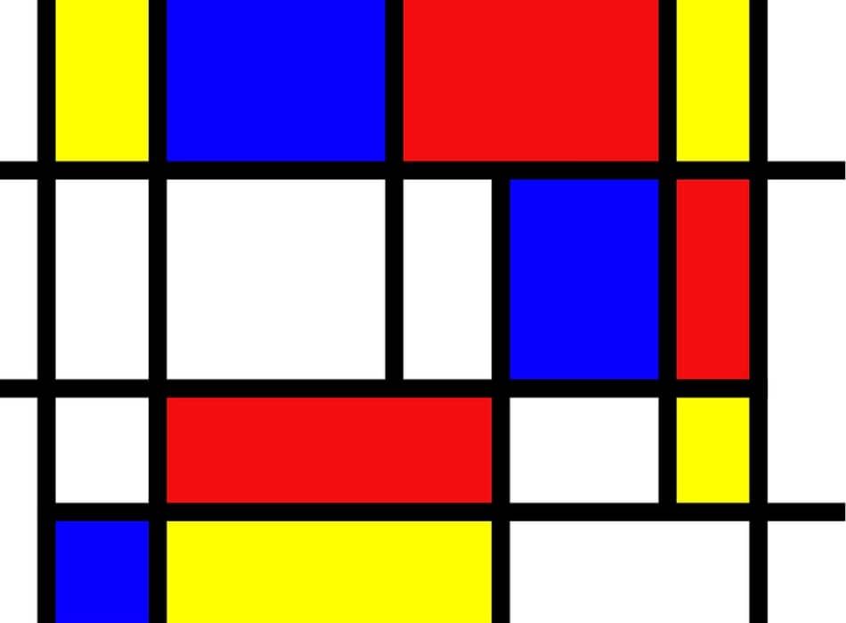 un dipinto di Mondrian