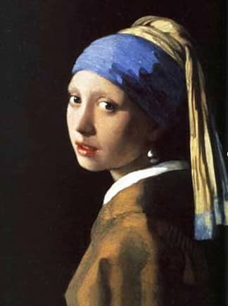 """La luce protagonista  nel quadro """"La ragazza con l'orecchino di perla"""""""