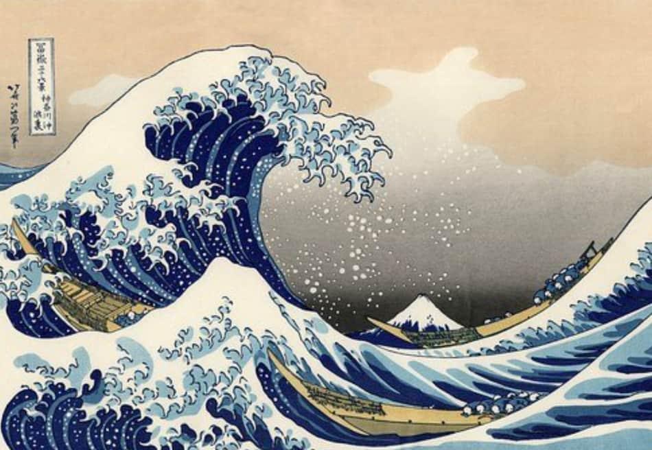 lontane le onde agitate del mare, disegnate con tanto di spuma