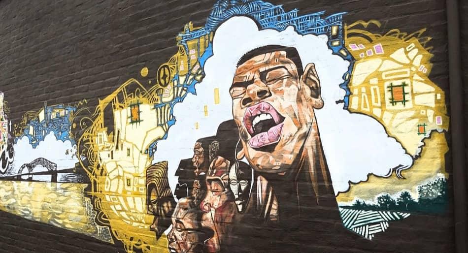 graffiti ispirati alla musica jazz e blues