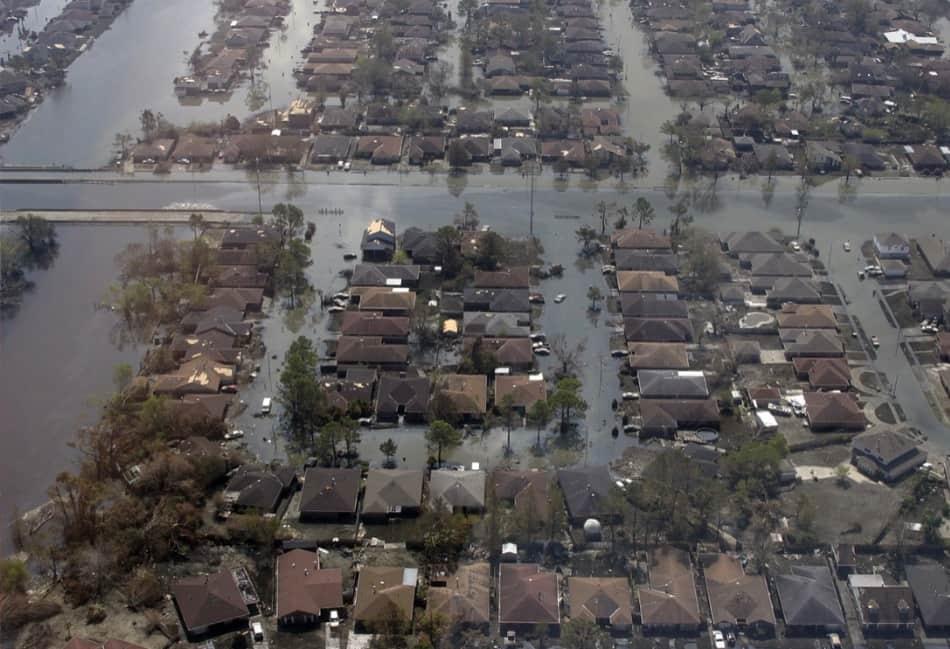 il terribile uragano Katrina