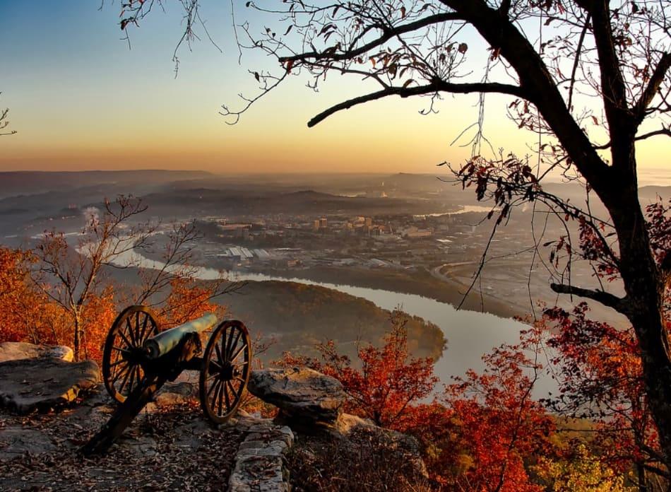 il luogo di una delle battaglie decisive della Guerra Civile Americana
