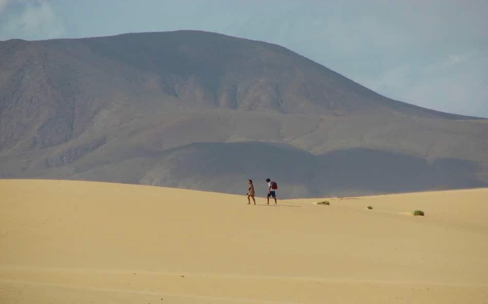 El Jable dove si possono fare salti e capriole sulle altissime dune